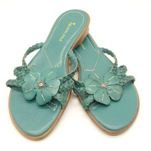 IPANEMA Whimsical Sandals Turquoise Green Leather